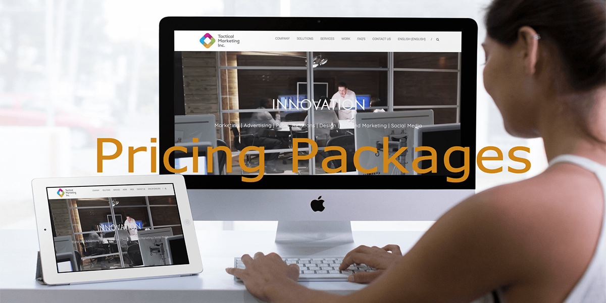 Pricing Packages website